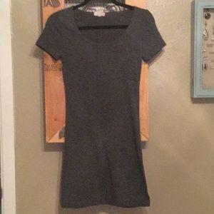 Basic grey mini layer dress